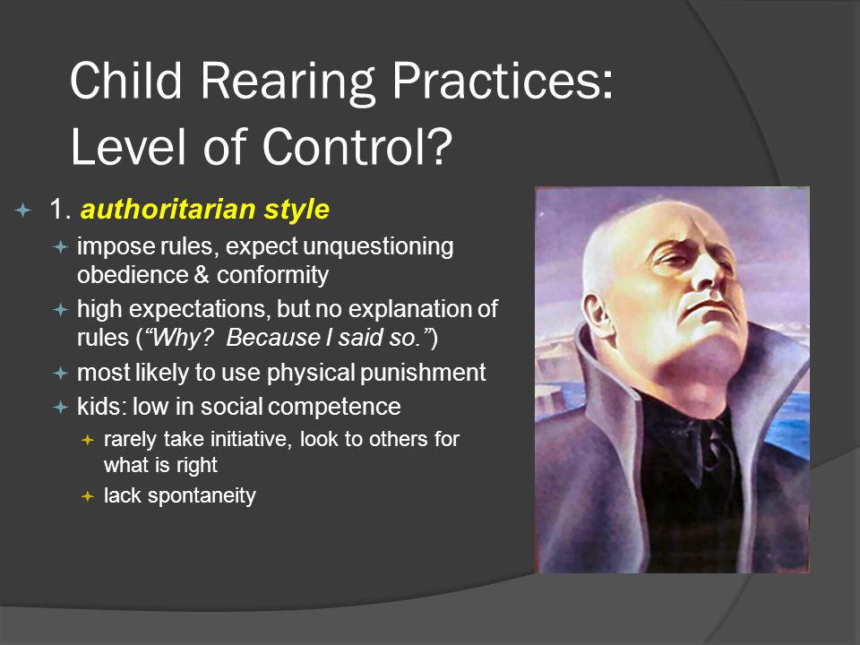 Child Rearing Practices: Level of Control