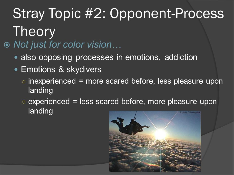 Stray Topic #2: Opponent-Process Theory