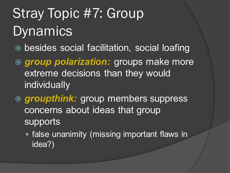 Stray Topic #7: Group Dynamics
