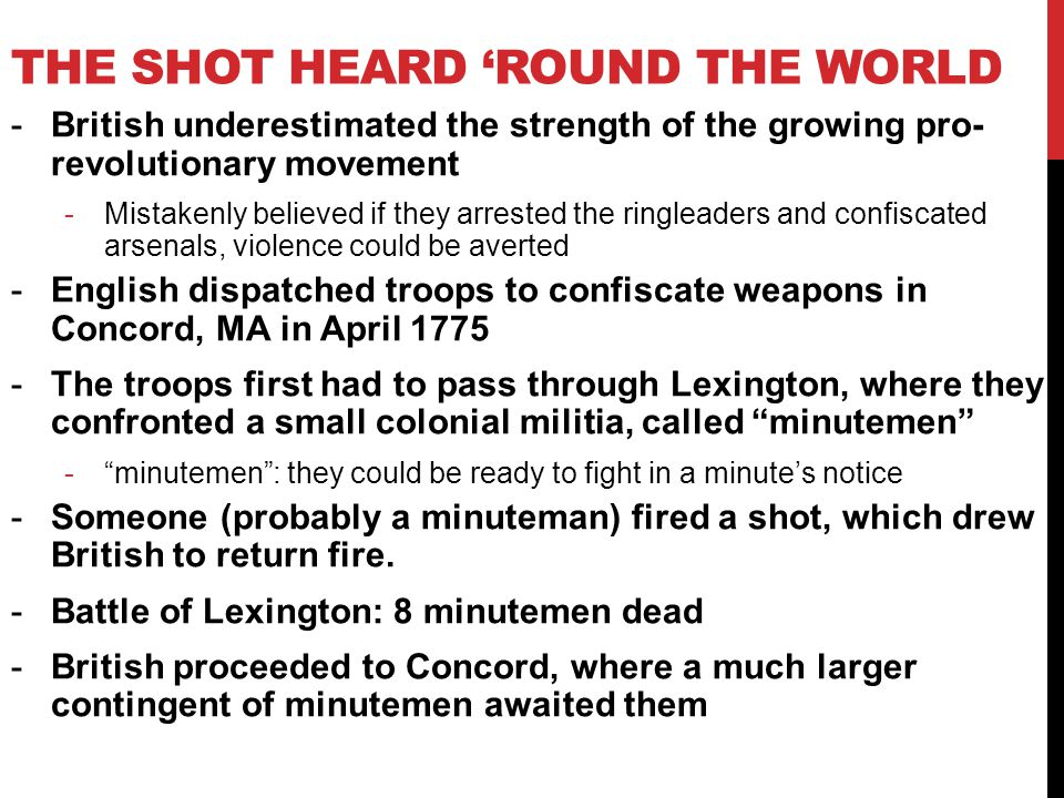 The Shot Heard 'Round The World