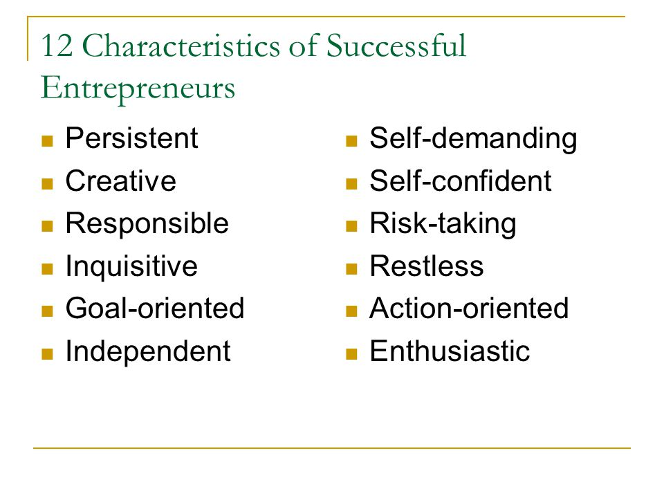 12 Characteristics of Successful Entrepreneurs