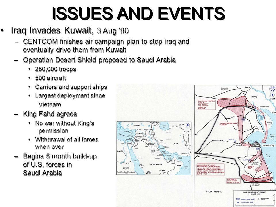 ISSUES AND EVENTS Iraq Invades Kuwait, 3 Aug '90