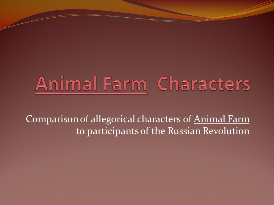 a comparison of animal farm and the russian revolution