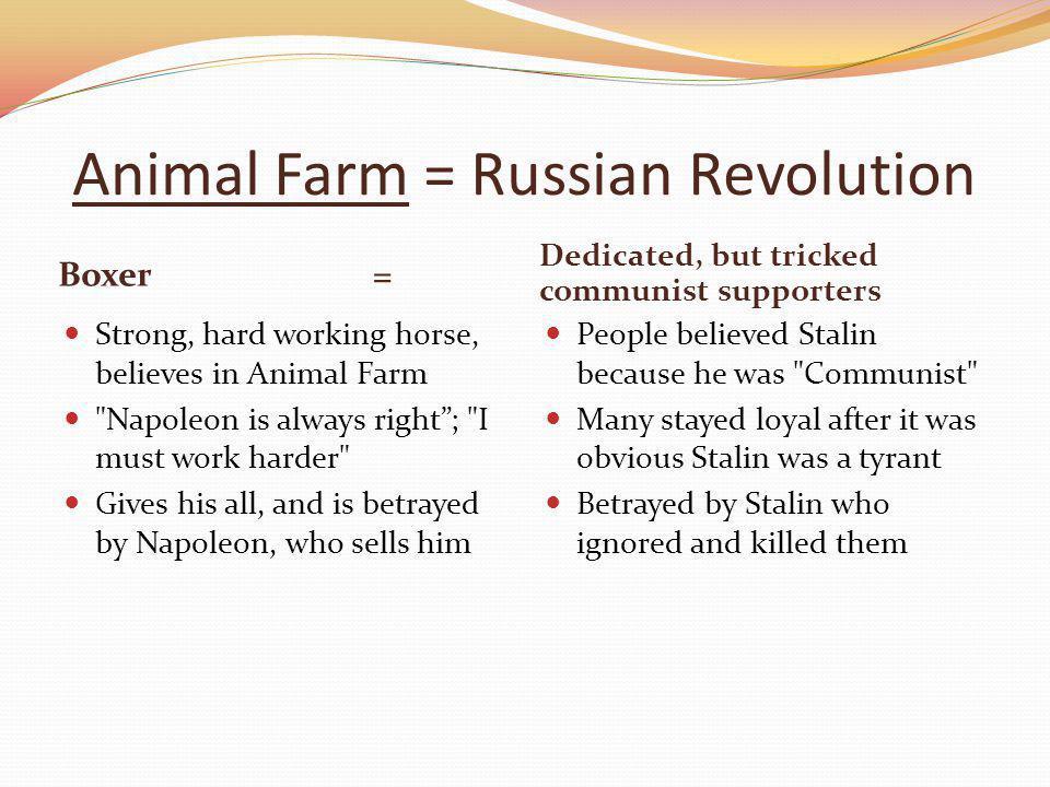 Animal Farm = Russian Revolution