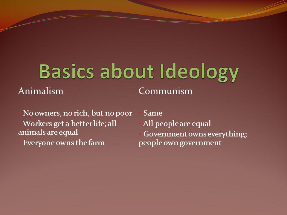 Basics about Ideology Animalism Communism