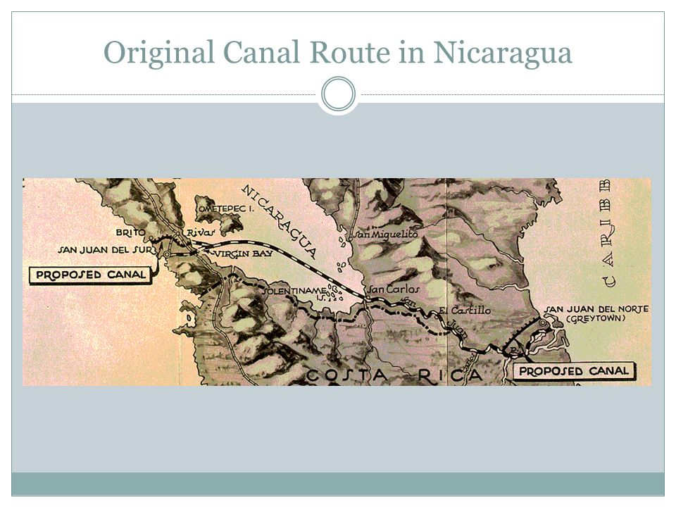 Original Canal Route in Nicaragua