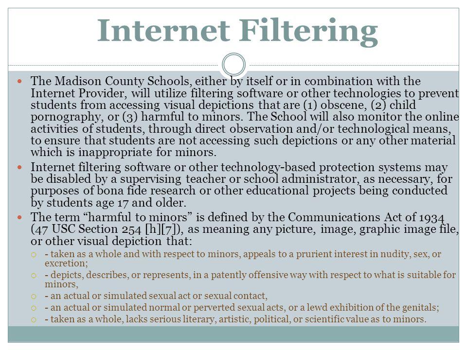 Internet Filtering