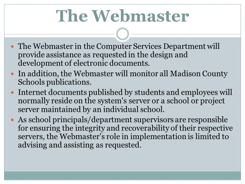 The Webmaster