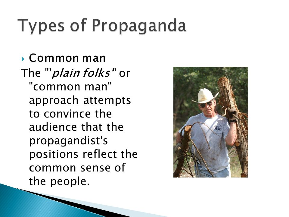 Types of Propaganda Common man