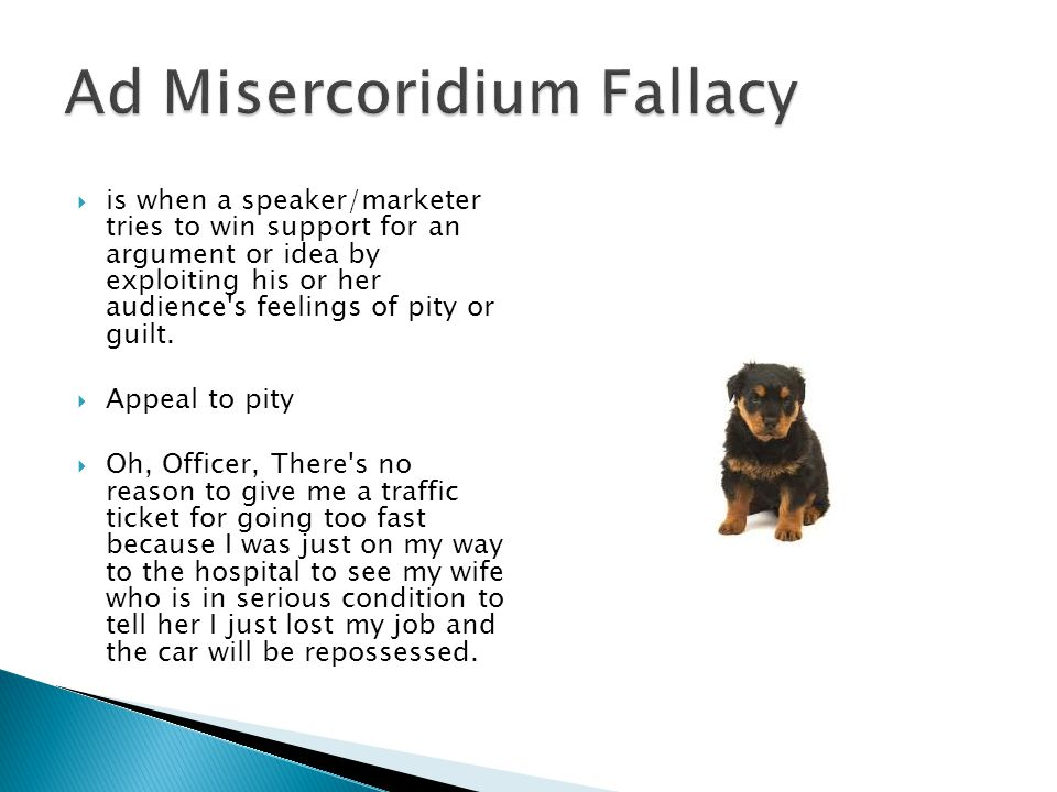 Ad Misercoridium Fallacy