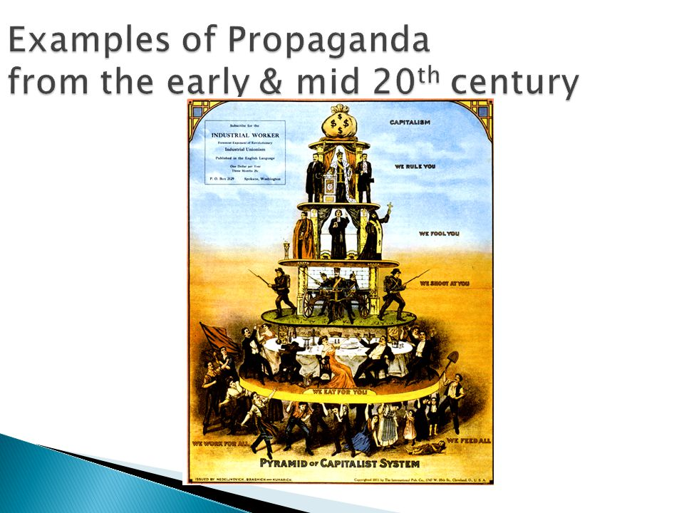 Examples of Propaganda from the early & mid 20th century