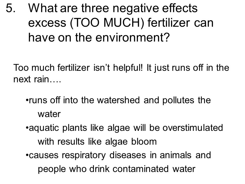 What are three negative effects