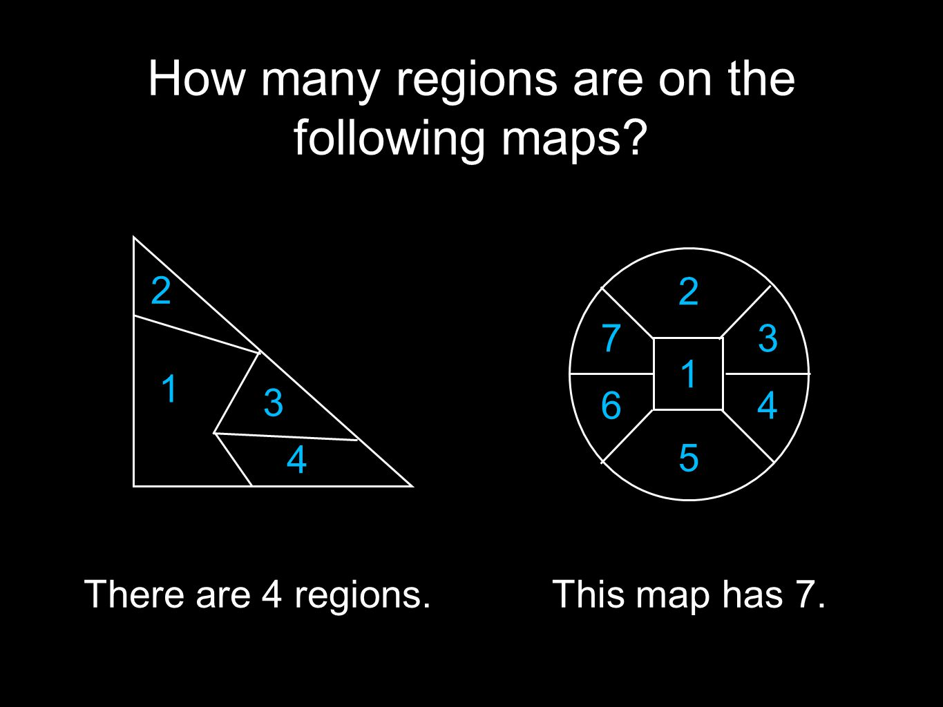 How many regions are on the following maps