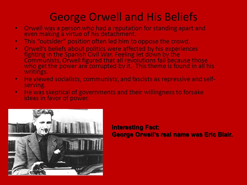 George Orwell and His Beliefs