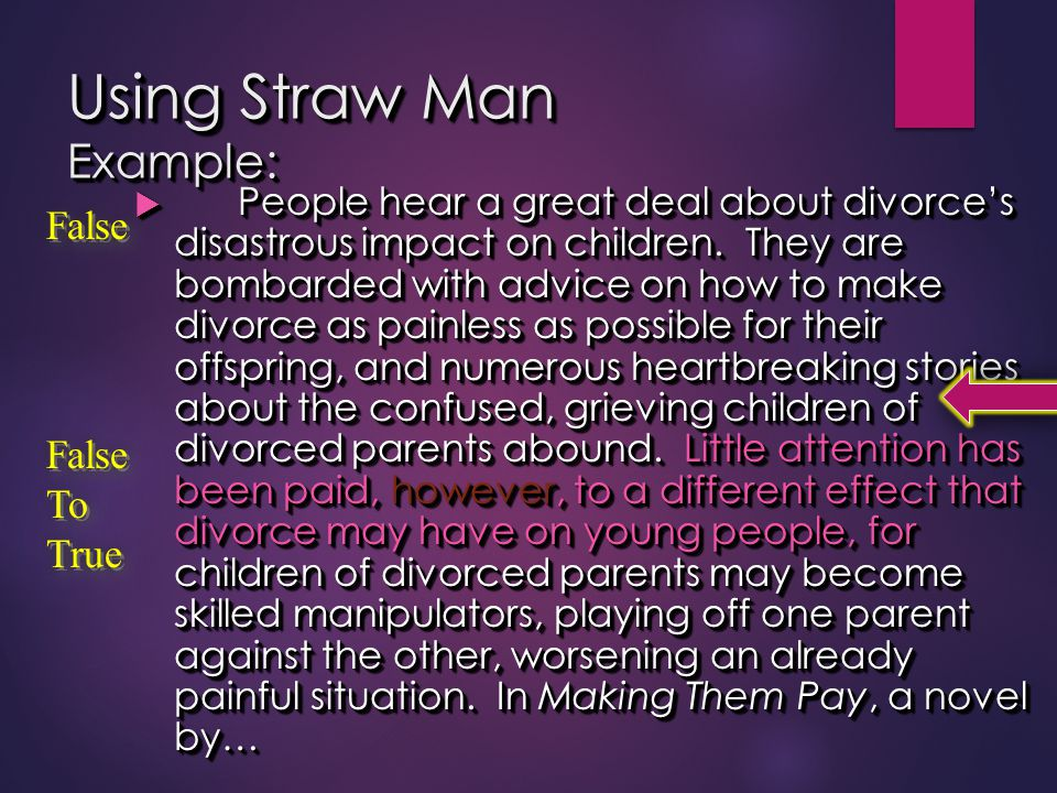 Using Straw Man Example: