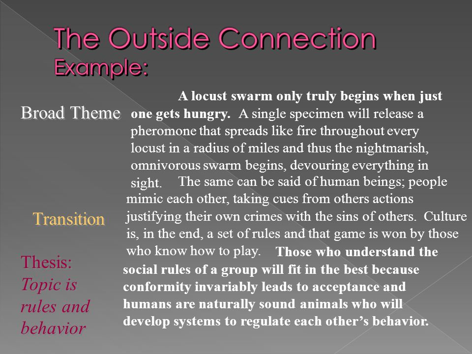 The Outside Connection Example: