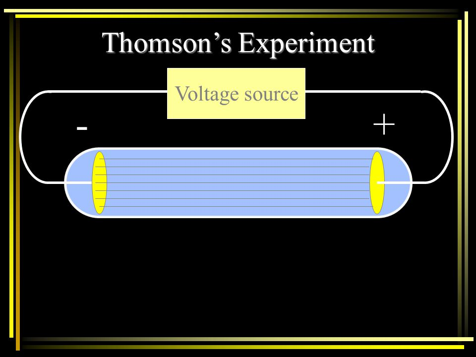 Thomson's Experiment Voltage source - +