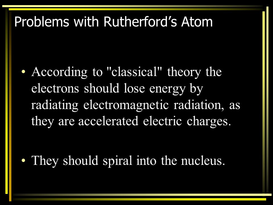 Problems with Rutherford's Atom