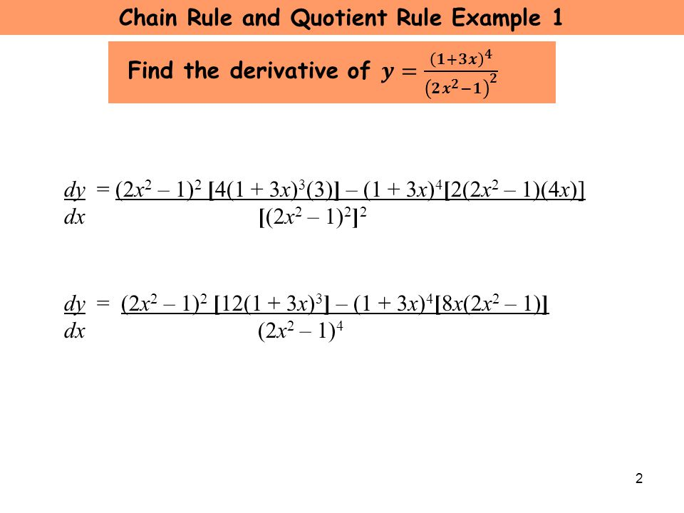 U2 L8 Chain and Quotient Rule