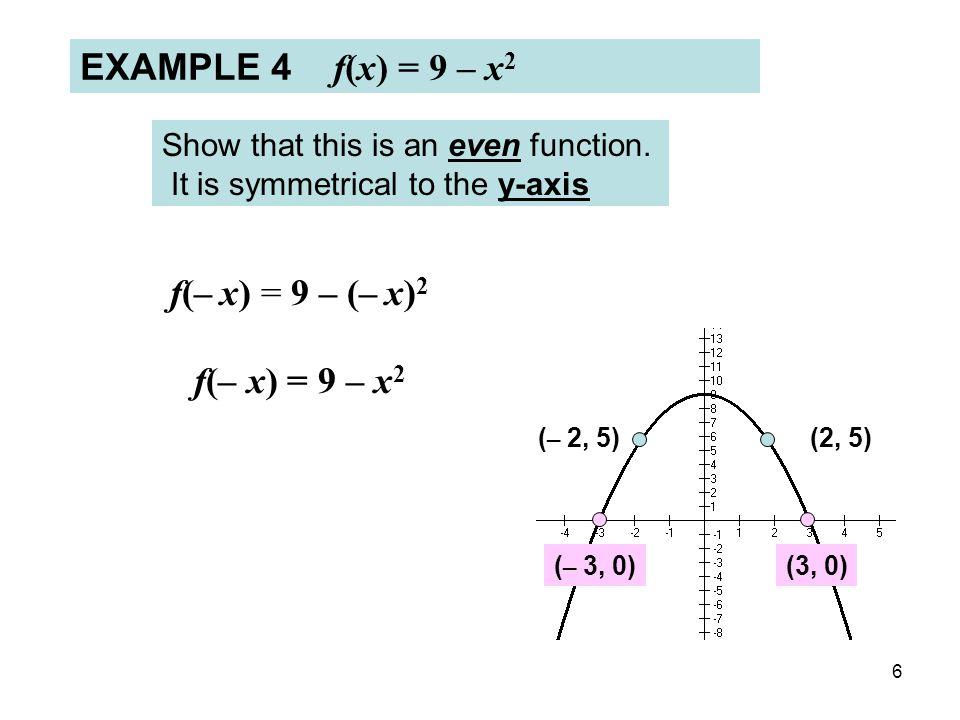Unit 6 Lesson #1 Intercepts and Symmetry