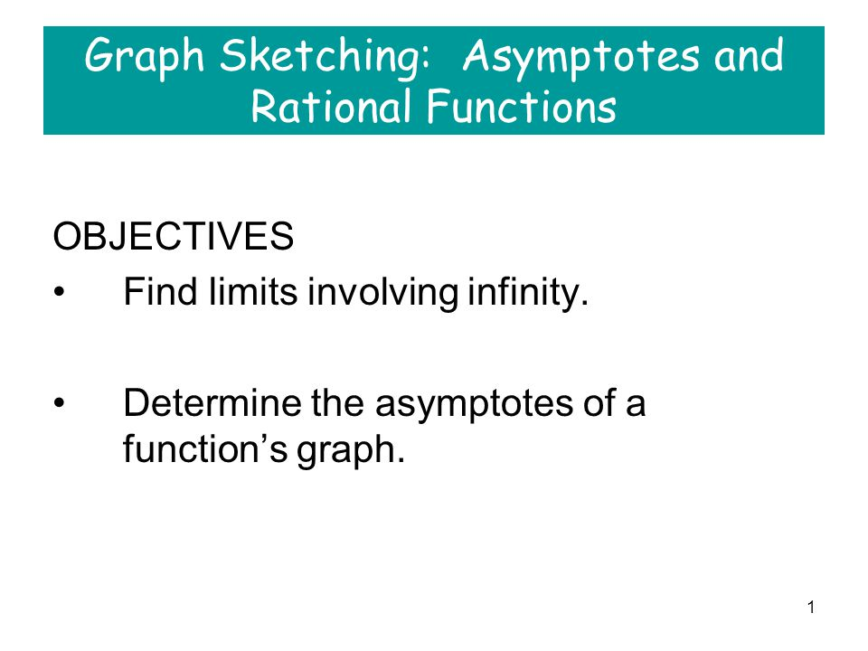 Graph Sketching: Asymptotes and Rational Functions