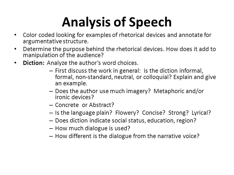 Analyzing Famous Speeches as Arguments - ppt video online ...