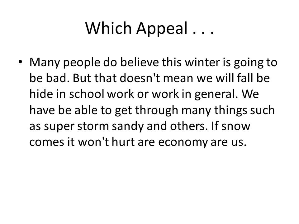 Which Appeal . . .