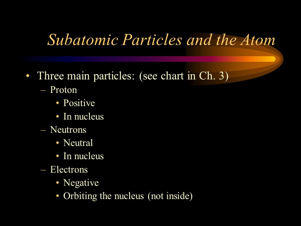 Subatomic Particles and the Atom