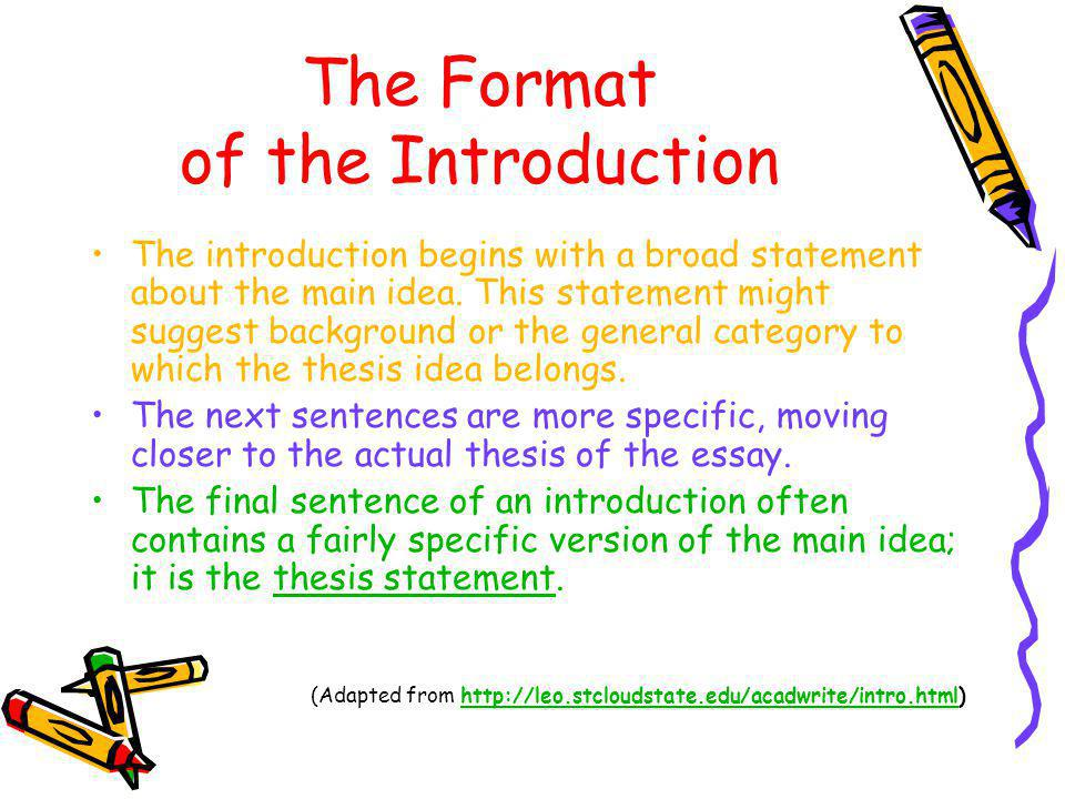 The Format of the Introduction
