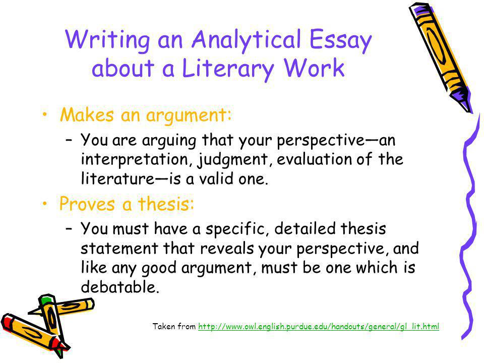 Writing An Analytical Essay About A Literary Work