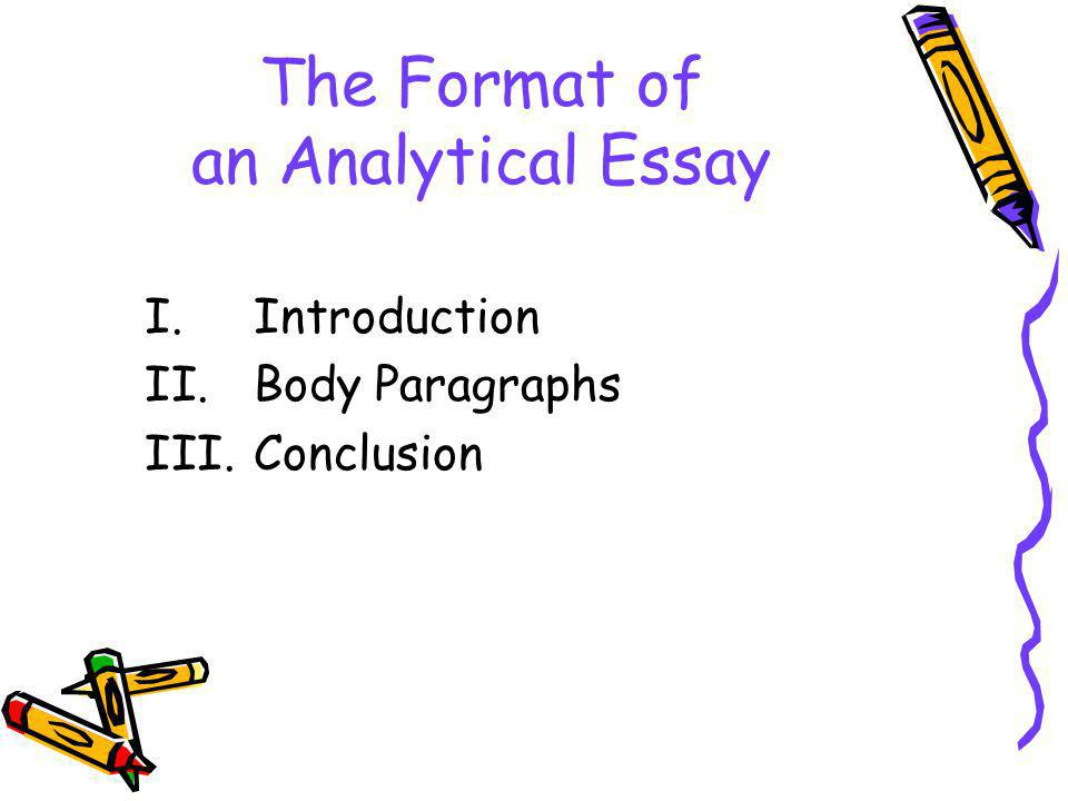 analytical introduction paragraph of an essay Guide to writing an essay types of essays and suggested structures analytical essay allow space for this in your essay introduction.