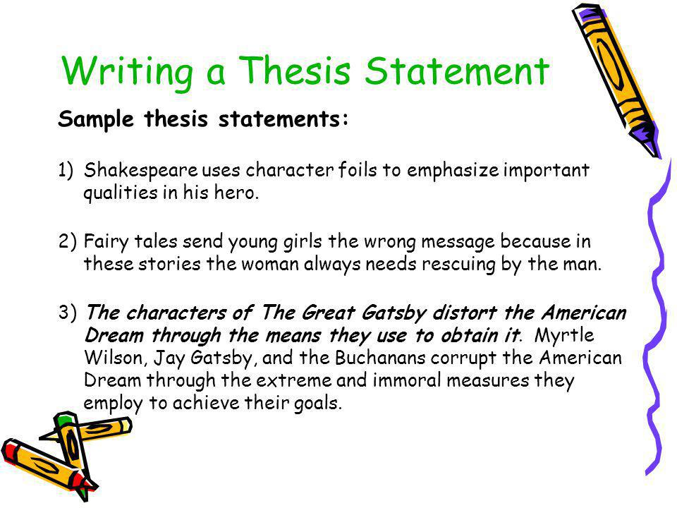 harry potter thesis statements Thesis, then, explores ways in which the harry potter texts may be approached from a critical literacy perspective to support readers to contest conservatively-aligned readings and to question the role of the texts in preparing students for a world of peace and co.