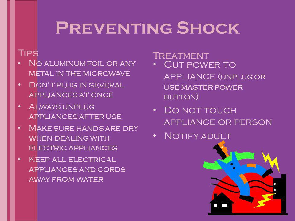 Preventing Shock Tips Treatment