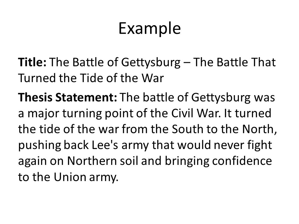thesis statement on civil war