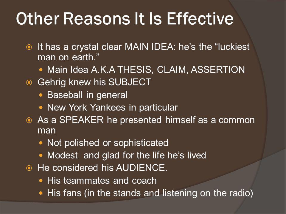 Other Reasons It Is Effective