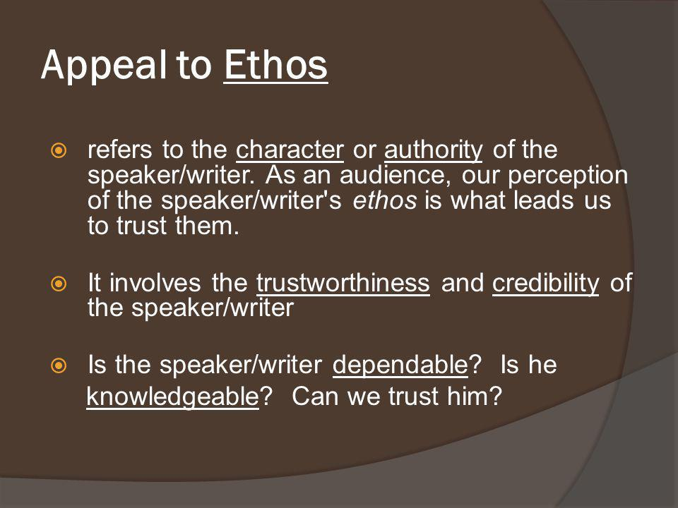 Appeal to Ethos