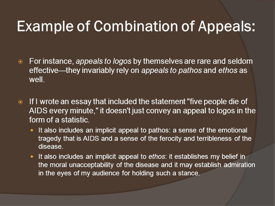 Example of Combination of Appeals: