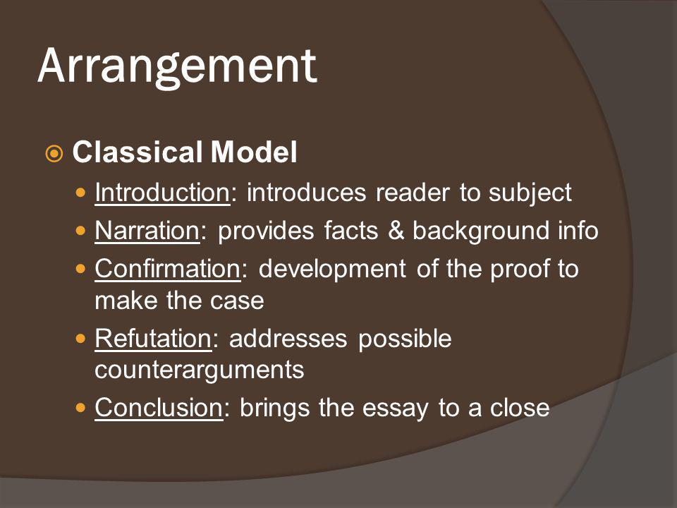 Arrangement Classical Model Introduction: introduces reader to subject