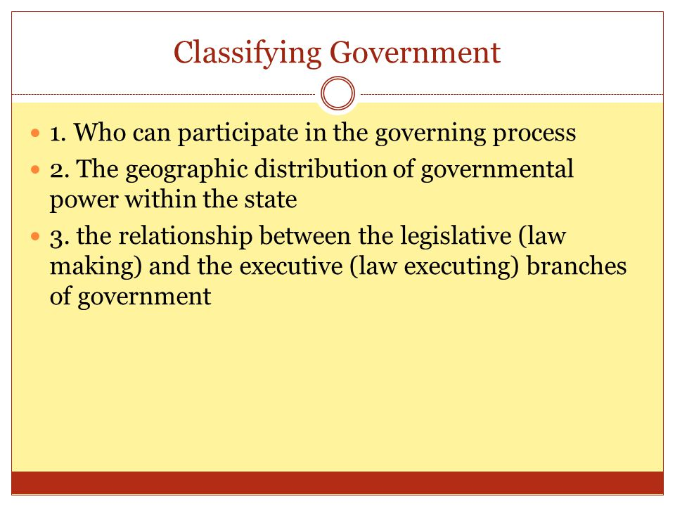 Classifying Government
