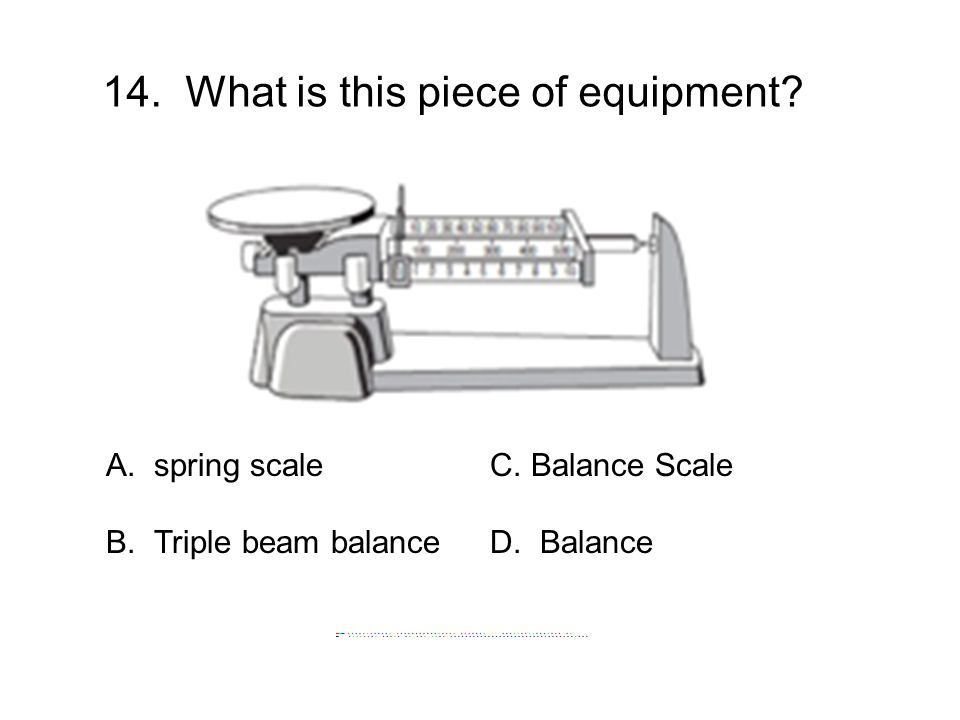 14. What is this piece of equipment