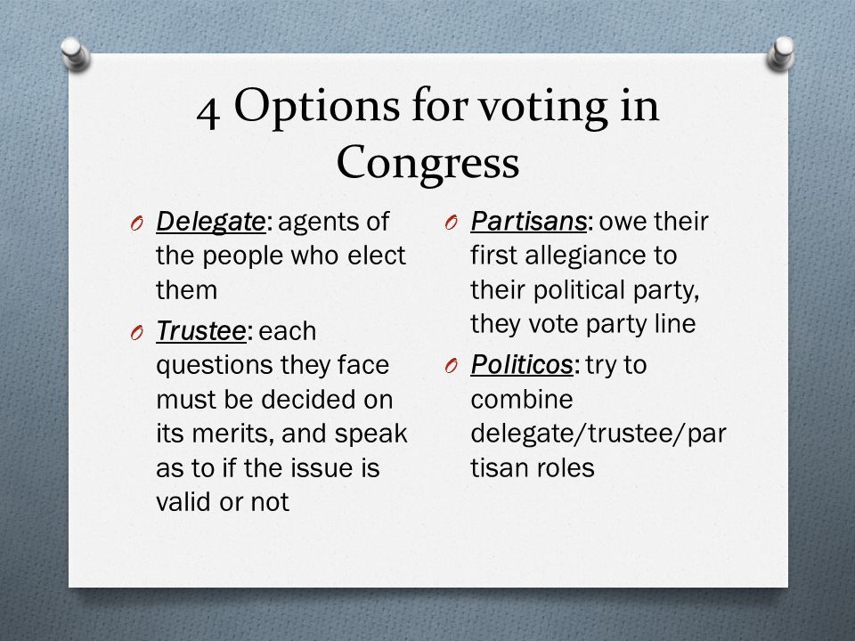 4 Options for voting in Congress