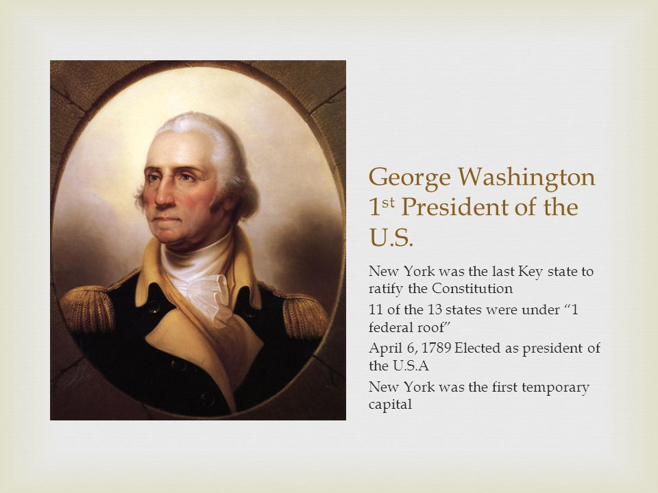 George Washington 1st President of the U.S.