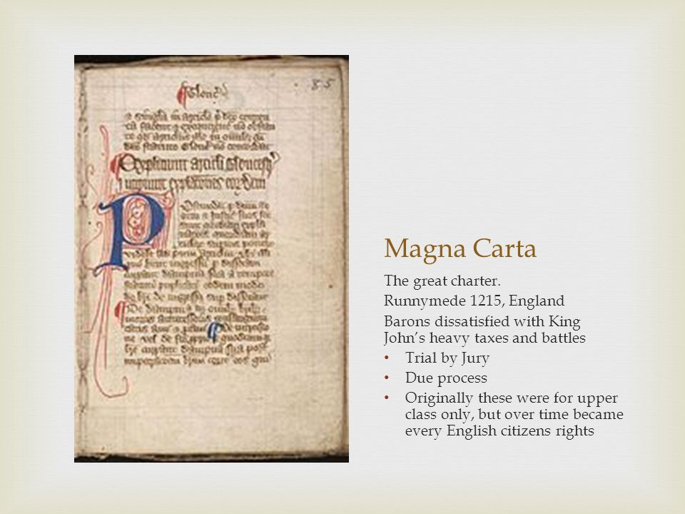 Magna Carta The great charter. Runnymede 1215, England