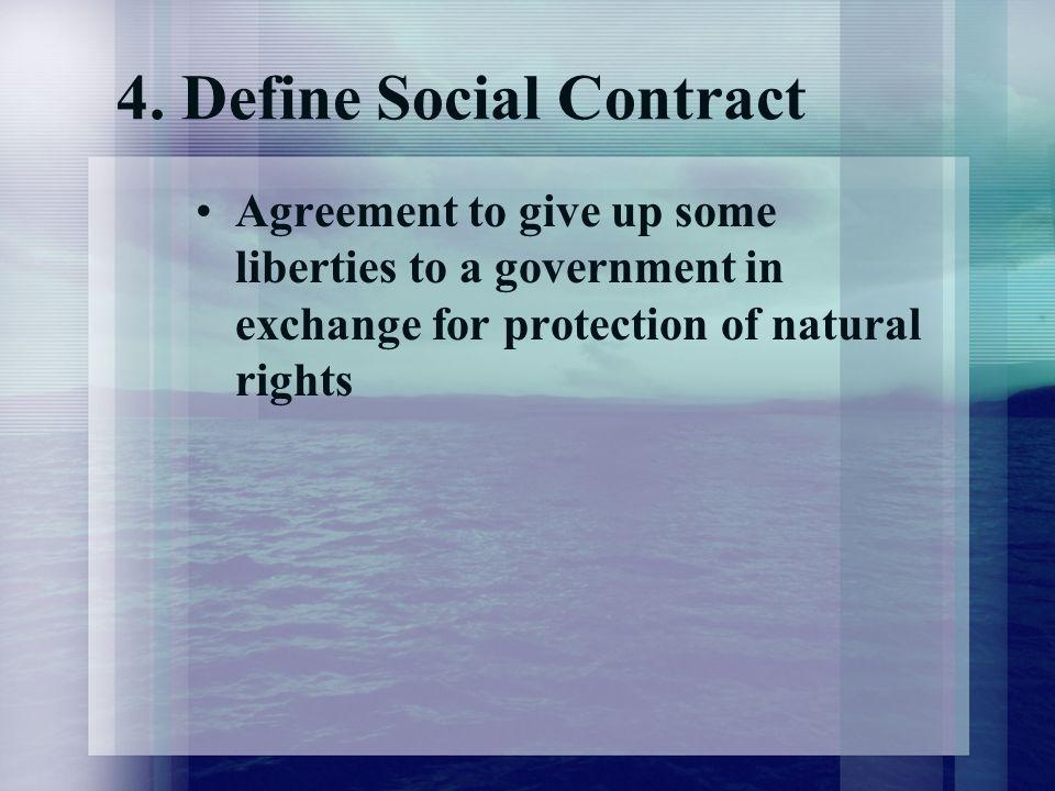 4. Define Social Contract