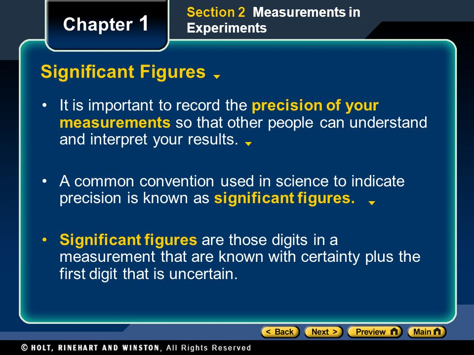 Chapter 1 Significant Figures