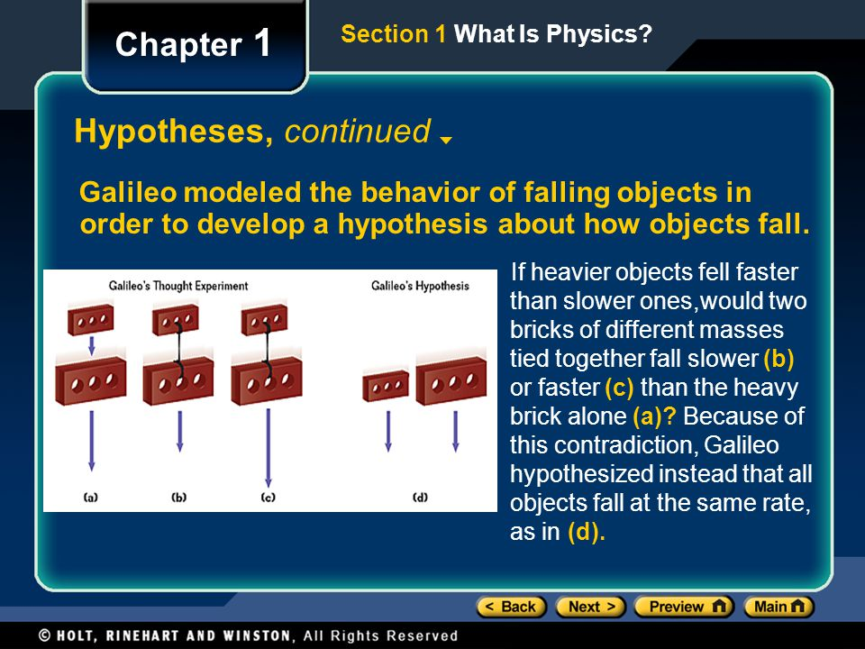 Chapter 1 Hypotheses, continued