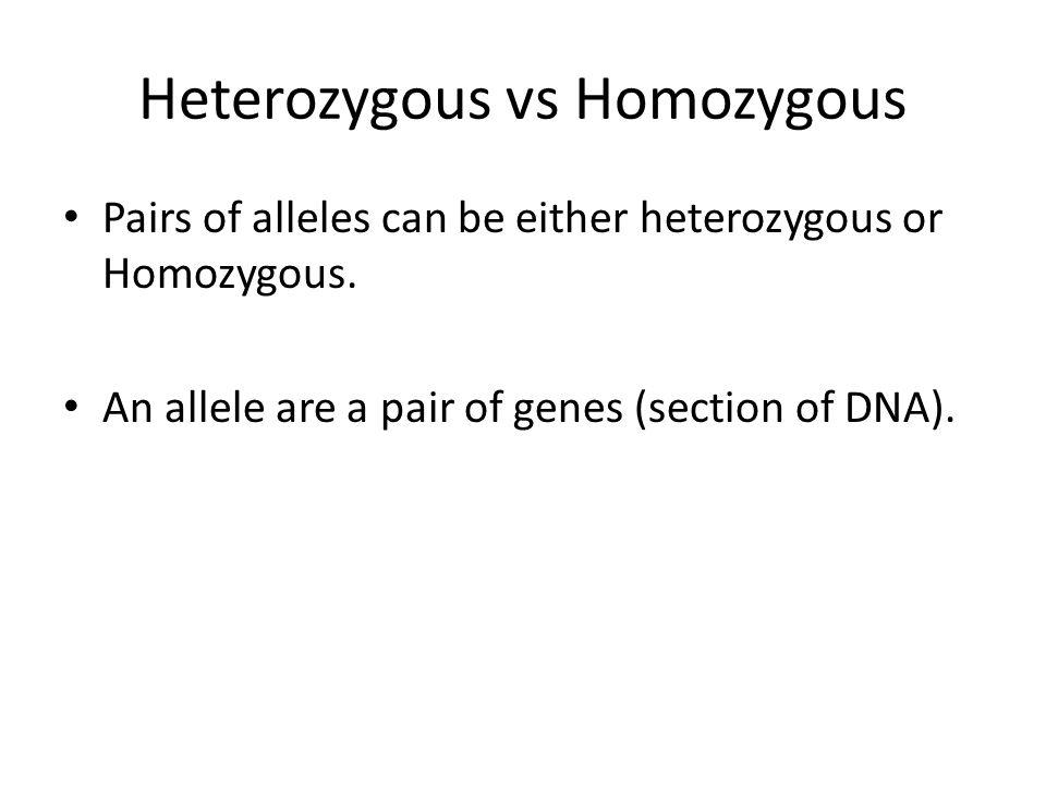 Heterozygous vs Homozygous