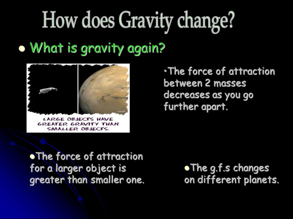 How does Gravity change