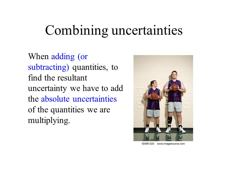 Combining uncertainties