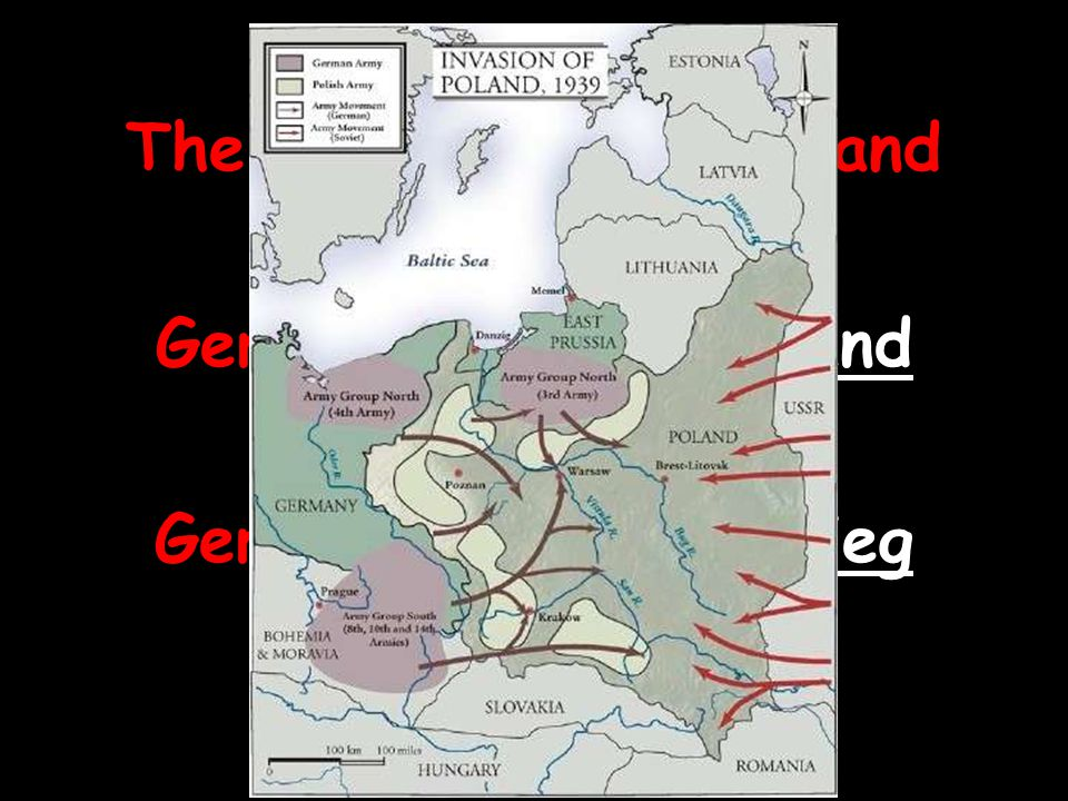 The USSR attacks Poland from the east.
